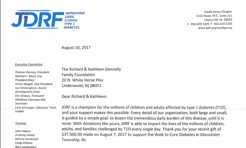 JDRF THANK YOU: A great showing of community support